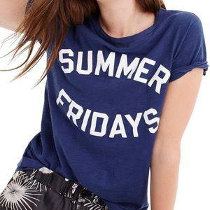 J Crew Summer Fridays Cotton Tee Shirt Top Sz S